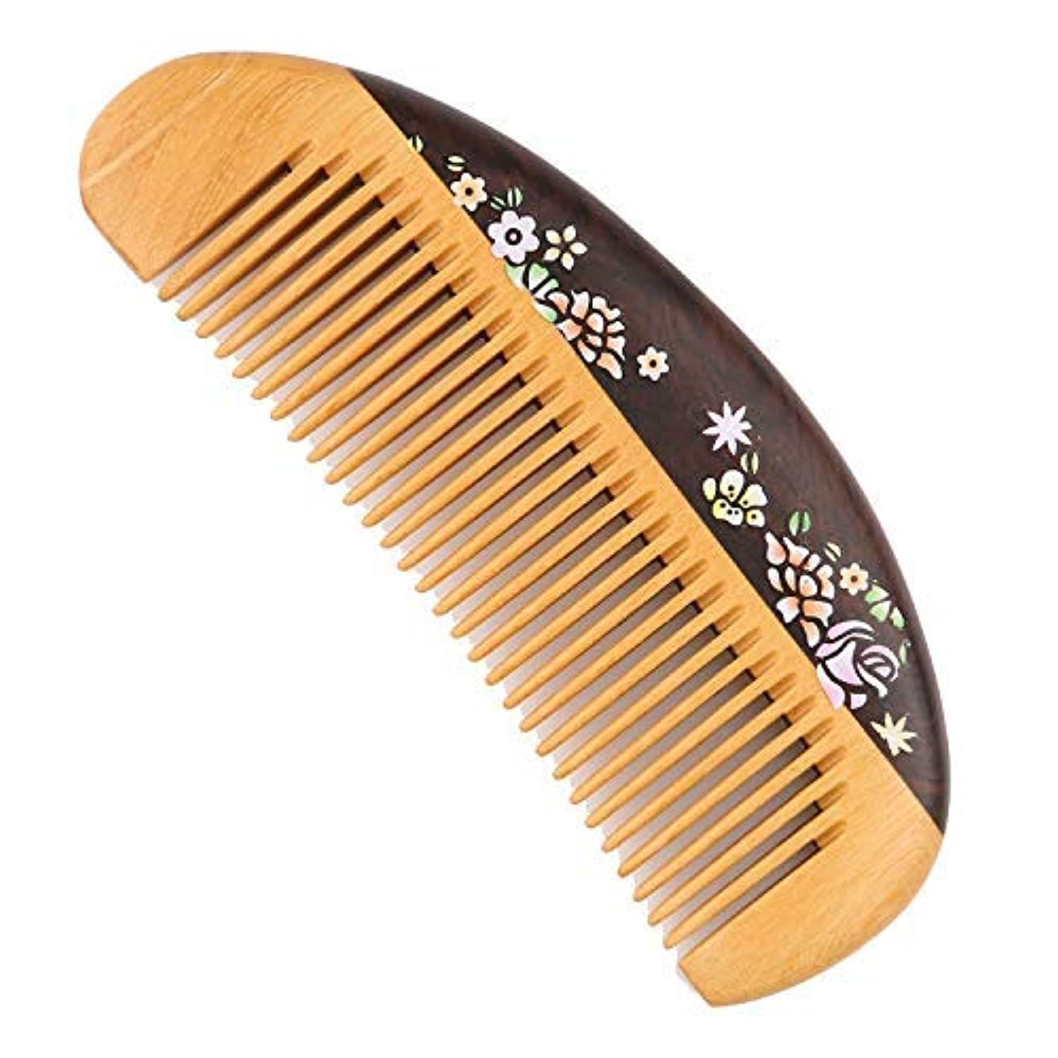 Fine Tooth Wooden Comb [Gift Box] -LilyComb No Static Pocket Wood Comb for Girl and Women- Birthday Anniversary...