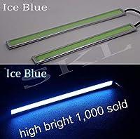 FidgetGear 2x Ice Blue COB Car LED Lights 12V For DRL Fog Driving Lamp Waterproof 17cm