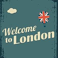 ポスター ウォールステッカー 正方形 シール式ステッカー 飾り 30×30cm Ssize 壁 インテリア おしゃれ 剥がせる wall sticker poster ロンドン 英語 国旗 010845