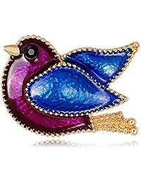 BIGBOBA Popular Animal Alloy Dripping Bird Brooch Anniversary Gifts Valentine's Day for Men Women Adult