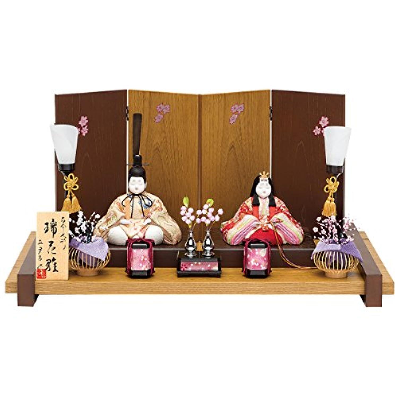 人形工房天祥 雛人形 真多呂作 木目込み人形 平飾り 親王飾り 古今親王 瑞花雛セット