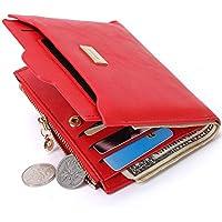 LDUNDUN-BAG, 2019 Women's Wallet Creative Zipper Short Wallet Women's Wallet Multicolor Wallet Purse (Color : Red, Size : S)