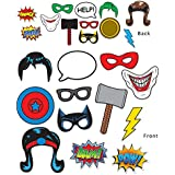 Beistle Hero 12 Piece Photo Fun Signs 17cm x 25cm