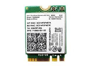 Intel デュアルバンド 高速 Wi-Fi 通信Band Wireless-802.11 AC Intel 7260NGW (NGFF) 最大リング867 Mbps+ Bluetooth 4.0 無線LANカード EnlargeCorp