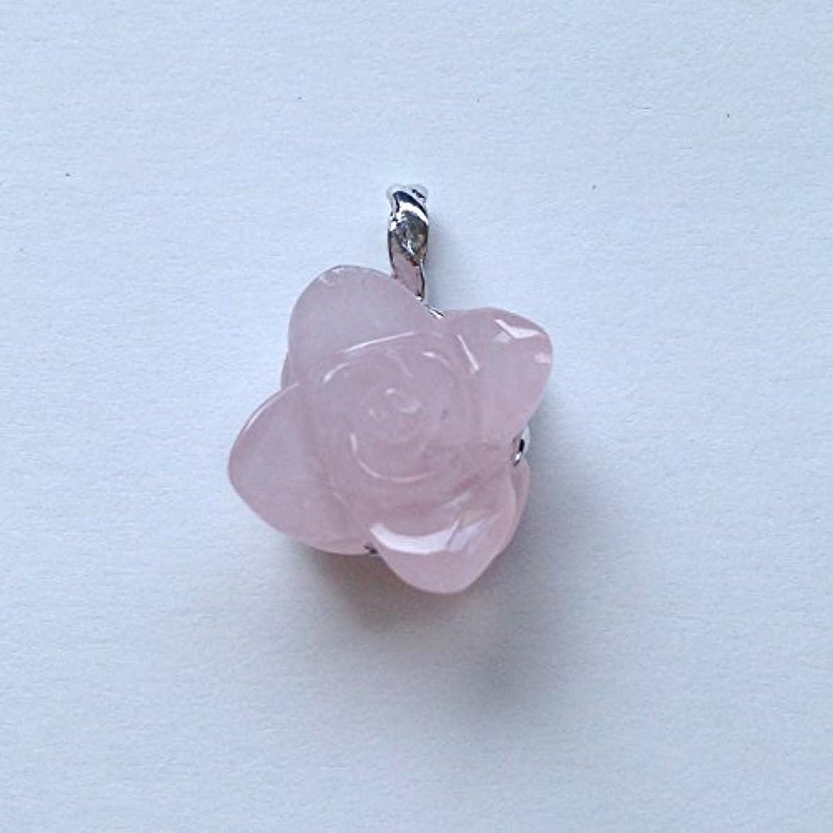 ストロー味方優勢香る宝石SVローズクォーツペンダント通常¥26,800の所 (Ag925)