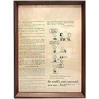 フォード スヌーピー 1960年代 ビンテージ広告 ポスター アートフレーム 額付