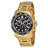 (インビクタ) INVICTA Pro Diver Chronograph Blue Dial 18kt Gold-plated Men Watch プロダイバー クロノグラフ 青 ダイヤル 18K