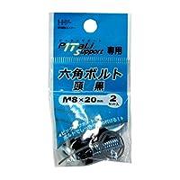 ダイドーハント(DAIDOHANT) ( 補強金物 ) DH ピッタリサポート用 6角ボルト  [ 鉄 / ユニクロ / 頭黒 ] (呼び径) 8mm x (長さ) 20mm ( 2セット入 ) 65909