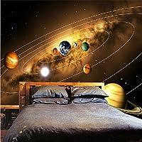 Ljjlm カスタム写真壁紙3D宇宙惑星写真の背景装飾絵画リビングルームの寝室不織布壁画壁紙-360X240CM