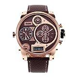 hwcoo Oulmダイヤルメンズ腕時計ベルトインポートQuartz Watchメンズ腕時計ブランドスポーツウォッチMilitary Watch 2