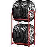 ottostyle.jp タイヤスタンド ノーマル レッド 幅55cm×奥行き40cm×高さ101cm 耐荷重120kg (タイヤ収納カバー付属) 軽自動車 SUV スタッドレス