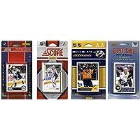 NHL Nashville Predators 4異なるライセンスTradingカードチームセット、ブラウン、1サイズ