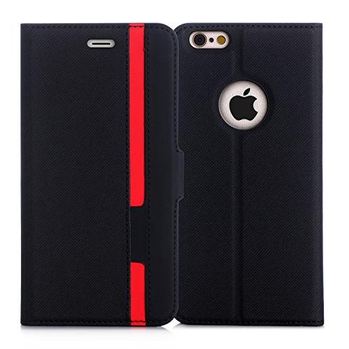 iPhone6s Plus ケース iPhone6Plus ケース,Fyy ハンドメイド 高級PUレザー ケース 手帳型 保護ケース カード収納ホルダー付き 横置きスタンド機能付き マグネット式 スマホケース
