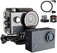 MUSON(ムソン) MAX1 アクションカメラ 4K高画質 40M防水 EIS手ぶれ補正 WiFi搭載 SONYセンサー 170度超広角レンズ 1350mAhバッテリー2個 外部マイク対応 リモコン付き HDMI出力