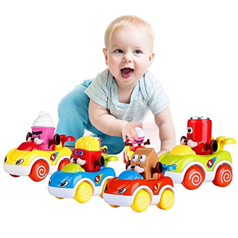 Lukat Baby Cars幼児用おもちゃPush and Go摩擦Toy Cars幼児玩具1 2 3歳児男の子と女の子