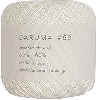 横田 DARUMA レース糸 #60 col.1 ホワイト 系 10g 約125m 3玉セット 01-2290
