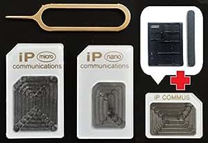 Nano SIM MicroSIM 変換アダプタ 4点セット ホワイト
