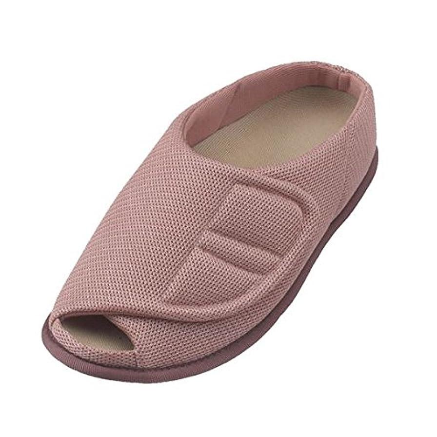 認可作り上げるふりをする介護靴 室内用 オープンルームメッシュ 2228 両足 徳武産業 あゆみシリーズ /LL (25.0~26.0cm) ピンク ds-1444971