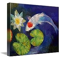 """壁アート印刷entitled Tancho Koi and Water Lily byマイケル・Creese 14"""" x 11"""" 1410478_2_thickbox"""