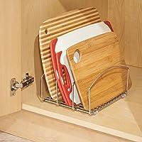 InterDesign オーガナイザー まな板 トレイ スタンド キッチン 調理器具 20.32 cm Classico クローム 48710EJ
