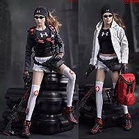 1/6 女性 服セット 靴、バック付き 人形 ドール カジュアル ホビー レディー 衣装 12インチ コスプレ 都市救助 FG046