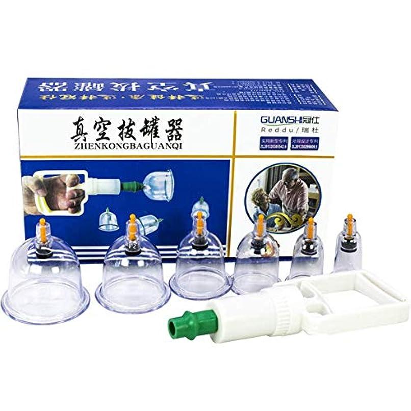 ビルマ些細廊下鍼治療ファイヤーレスカッピング療法、プロの中国のツボカッピング療法真空磁気ポンプ付きカッピングセットセルライトカッピングマッサージキット12-Cu