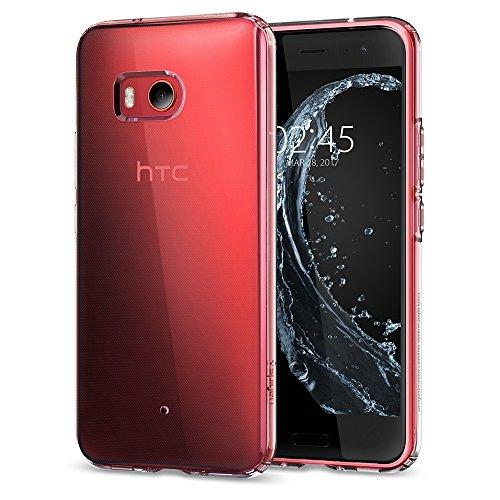Spigen シュピゲン スマホケース HTC U11 対応 TPU 全面クリア 超薄型 超軽量 リキッド・クリスタル H11CS21939 (クリスタル・クリア)