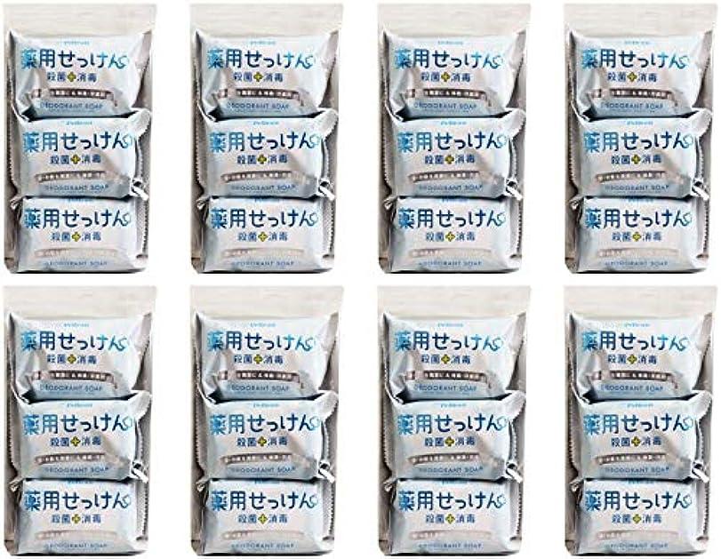 悲惨なタッチ抜け目のない【まとめ買い】ペリカン石鹸 薬用せっけん 85g×3個【×8個】