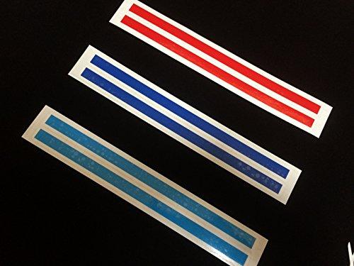 目立ち度抜群! BMW ///Mカラー フロントグリル ステッカー 1cm×22cm 2セット