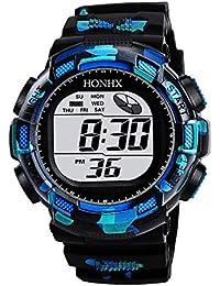 Ecotrumpjp 子供用腕時計 子供 ウオッチ デジタル腕時計 文字盤 迷彩 デジタル表示 30m防水 多機能 カレンダー 目覚まし時計 ライト付き クロノグラフ 子供 学生 誕生日プレゼント ギフト