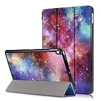 """A-Beauty iPad Air 10.5"""" (3rd Gen) 2019 / iPad Pro 10.5"""" 2017 タブレット専用 ケース 開閉式 三つ折 スタンド [超軽量] [薄型ケース] [オートスリープ機能付き] 銀河"""