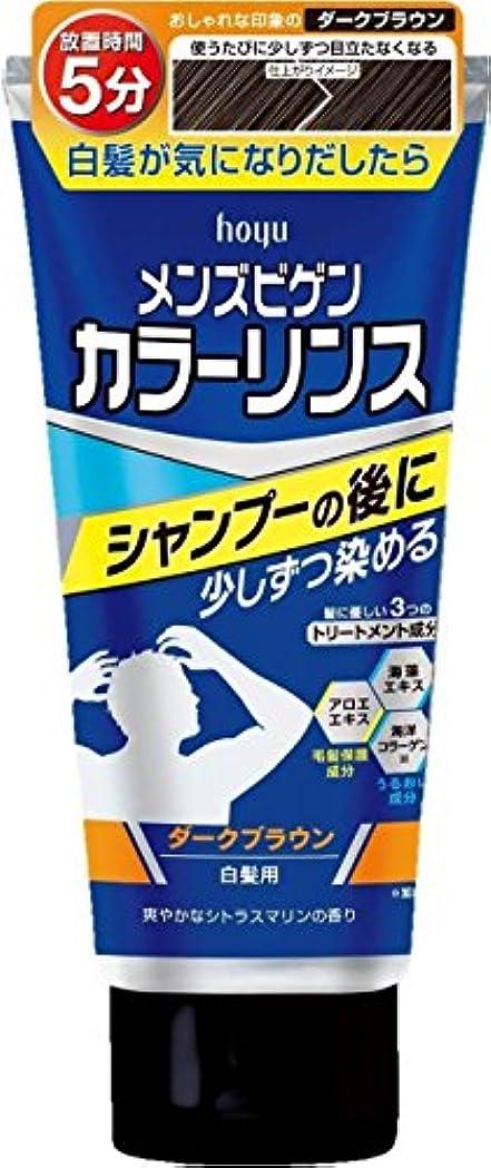 作成者スキニー火ホーユー メンズビゲン カラーリンス (ダークブラウン) ×6個
