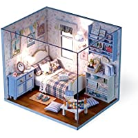 nwfashionミニチュアdiykits Boy & girls dream Huose Bedroomドールハウスキット