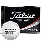 Titleist Pro v1X Personalizedゴルフボール–独自に追加テキスト( 1ダース)