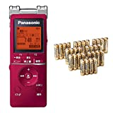 パナソニック ICレコーダー 4GB レッド RR-XS460-R + 単4形アルカリ乾電池 32本パック LR03RJA/32S セット