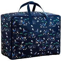 ブルー収納袋3PCSポータブル折りたたみオックスフォード布防水防湿コットンキルト収納大きな荷物衣類移動仕上げ収納袋3個/セット (サイズ さいず : 70 * 30 * 50cm)