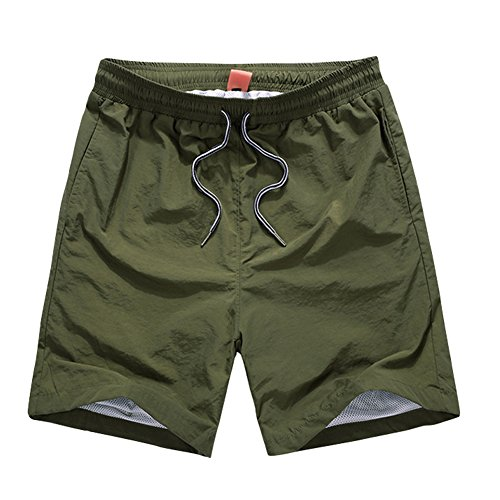 (オチェーンタ)OCHENTA レディース 吸汗速乾 速乾軽量 ジムウェア トレーニング ショーツ スポーツ 短パン ショートパンツ アーミーグリーン S