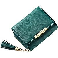 ddb3b5b9ee49 Xmeng レディース 財布 三つ折り財布 大容量 小銭入れ付 小型 軽量 人気 ウォレットかわいい
