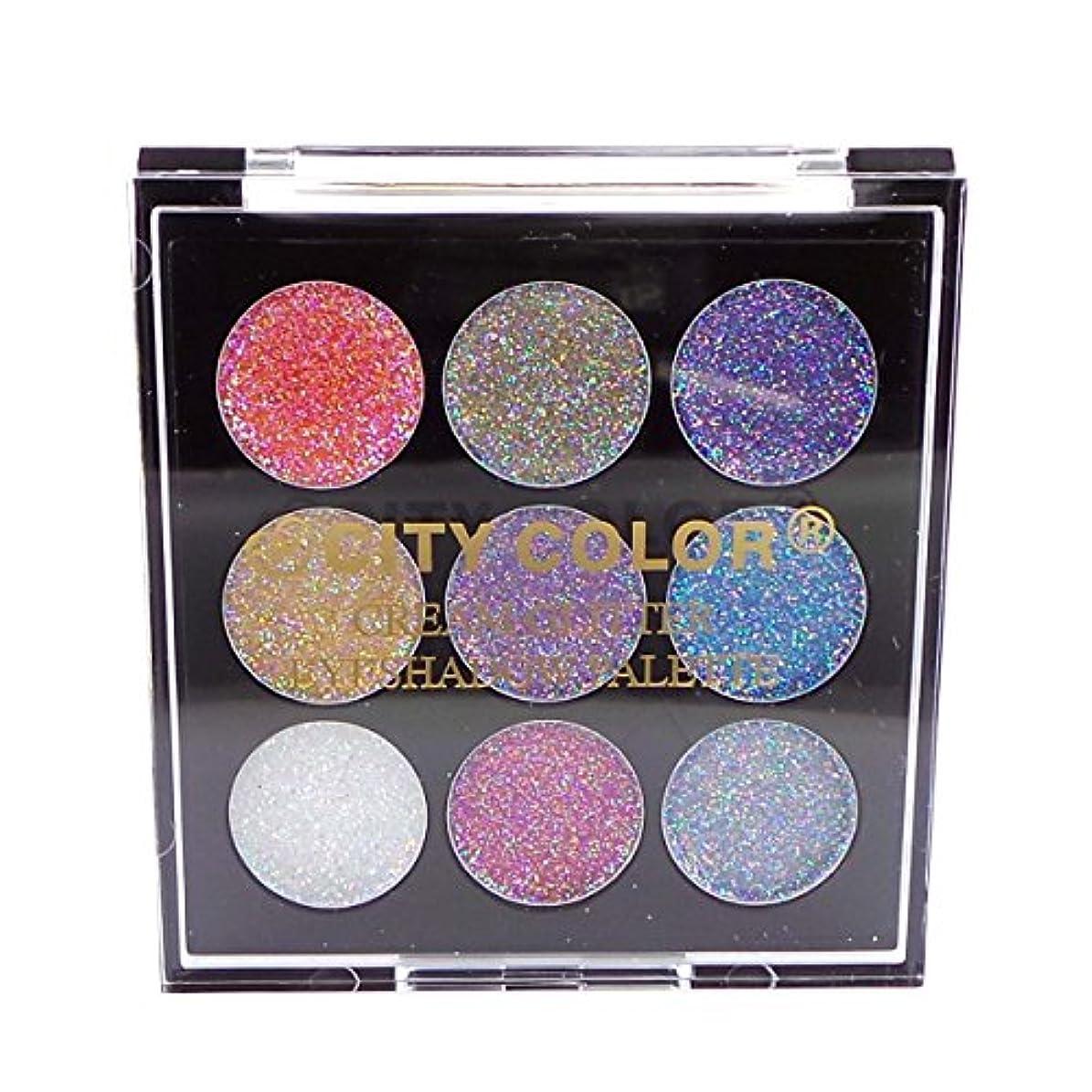 入射プラスチックメーターCITY COLOR Cream Glitter Eyeshadow Palette (並行輸入品)