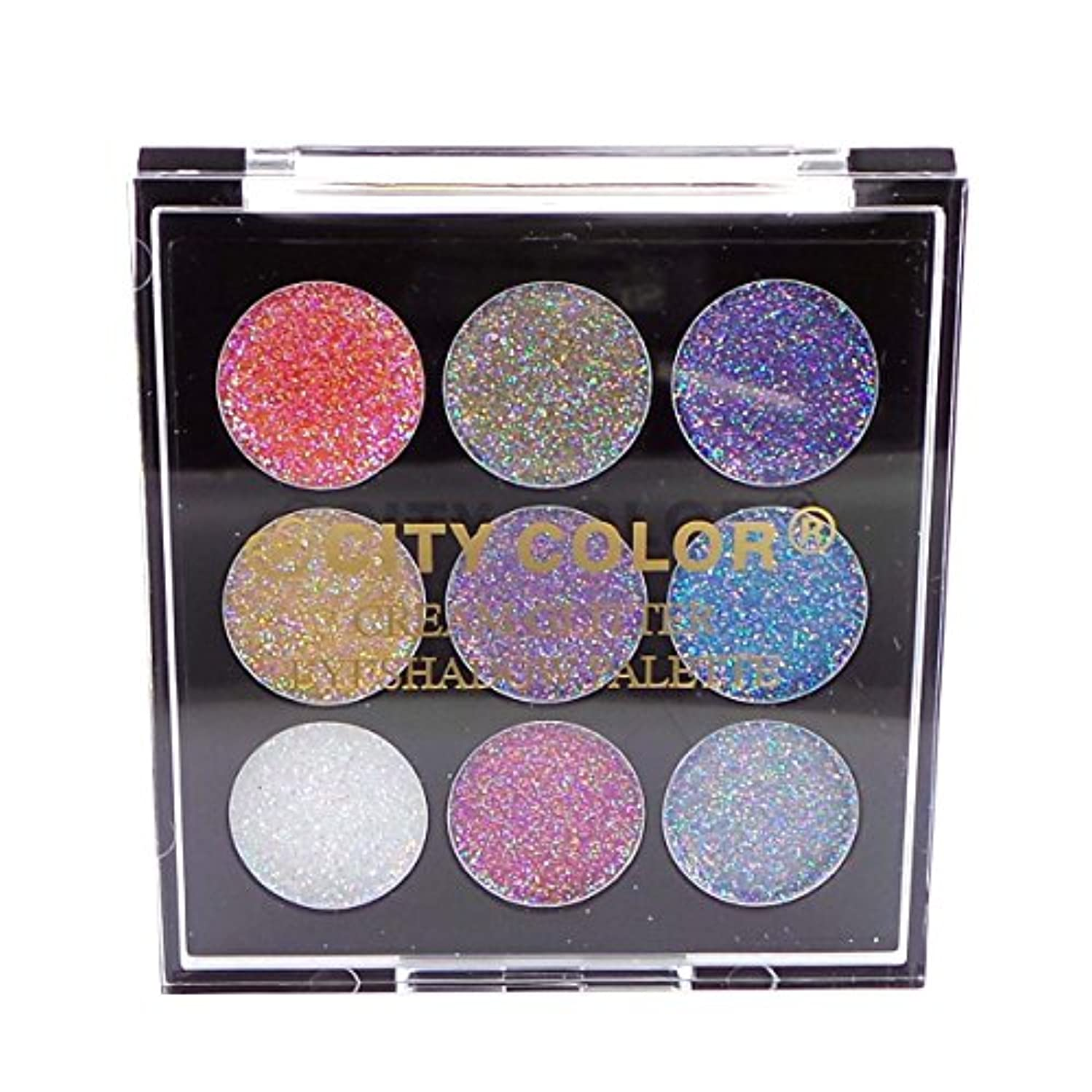 計算何鯨CITY COLOR Cream Glitter Eyeshadow Palette (並行輸入品)