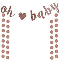 oh baby banner with heart banner for baby shower oh baby gold