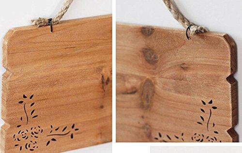 インテリア DIY 表札 サインプレート ドアサイン ドアプレート サインボード 木札 伝言板 看板 壁掛け アンティーク 木製