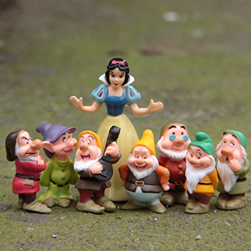 디즈니 백설 공주와 일곱 난쟁이 피규어 소인 Disney Snow White with little man figure [병행수입품]-f6