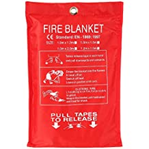 Fiberglass Fire Blanket Fire Flame Retardant Emergency Survival Fire Shelter Safety Cover 39.3 * 39.3 inches