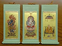 ミニ仏壇用掛軸3枚セット 20代(20cm) (真言宗)