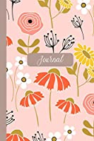 """Journal: Pretty Pink Peach Blossom Flower Women's Journal to Write In. 120 Lined Pages. 6"""" X 9""""."""