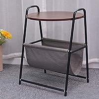 MMAXZ 素朴なサイドテーブル - モダンな工業デザインの木製の効果エンドテーブル、ナイトテーブル、ベッドサイドまたは電話テーブル - ラウンジ、ダイニングまたはリビングルームの家具 (色 : B)