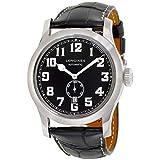 Longines Heritage Miltary自動ブラックレザーメンズ腕時計l28114530