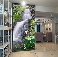 Mzznz カスタム3D壁画壁紙新鮮な天然水の滝ポーチリビングルームの背景不織布写真防水壁紙壁画-400X280Cm