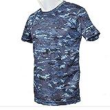 自衛隊グッズ 海上自衛隊 海自 デジタル迷彩 ドライ Tシャツ (L)